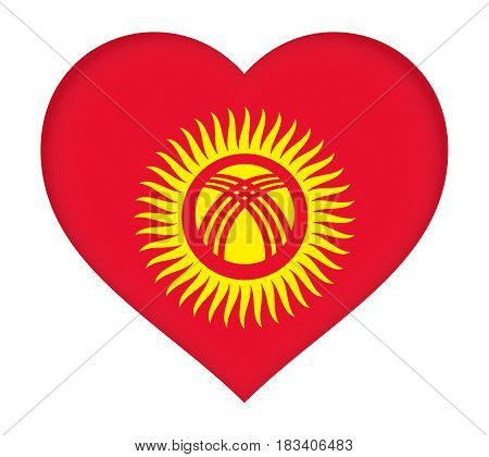 Flag Of Kyrgyzstan Heart.