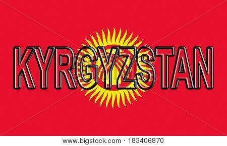 Flag Of Kyrgyzstan Word