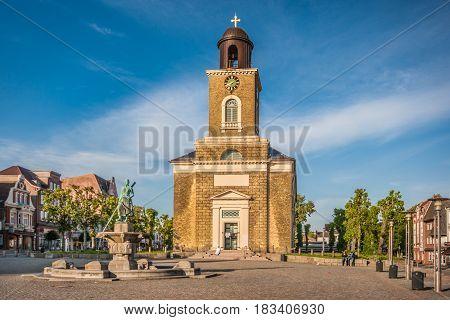 Town Of Husum With Marienkirche, Nordfriesland, Schleswig-holstein, Germany