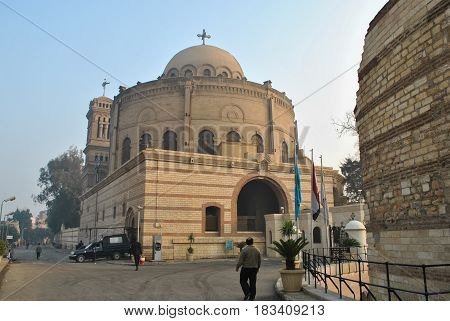 Cairo, Egypt - January 20, 2011: Early morning on the street in the Coptic area in Cairo