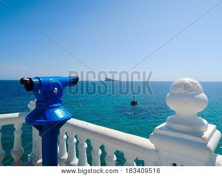 View from balcony in Mediterranean sea, Benidorm, Valencia