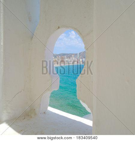 View from balcon in Benidorm city, Valencia