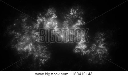 Abstract fractal illustration looks like beautiful  galaxies