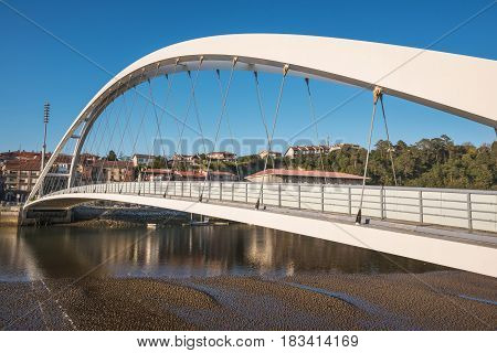 Plencia cityscape and bridge Vizcaya Basque country Spain.
