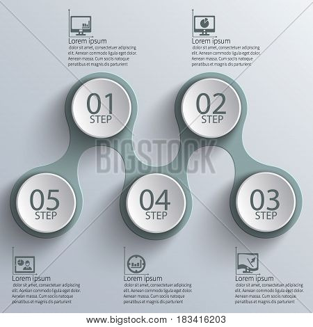 vector abstract 3d paper infographic elements.Metaball infographics.Round elements
