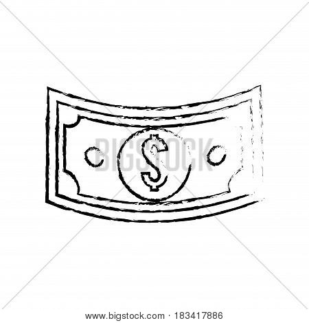 figure bill dolar money, vector illustration design