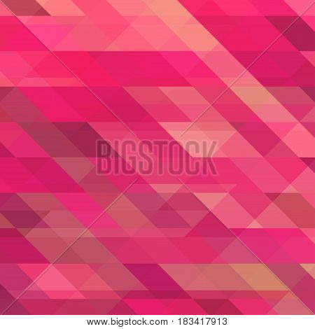 Abstract Background with Triangular Mosaic Pattern in Pink Fuchsia Color Vector Colorful Backdrop.