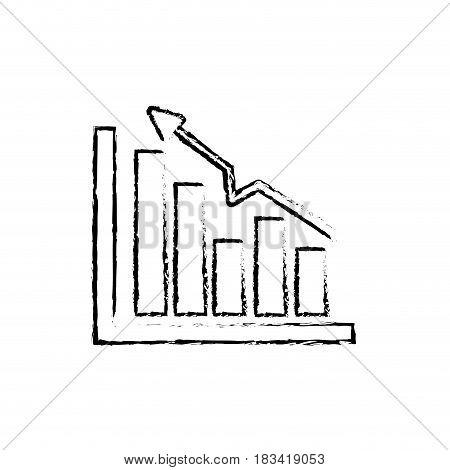 figure business statistic data growing diagram, vector illustration