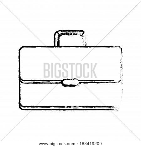 figure suitcase to save business documents, vector illustration design