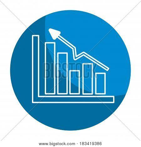 emblem business statistic data growing diagram, vector illustration