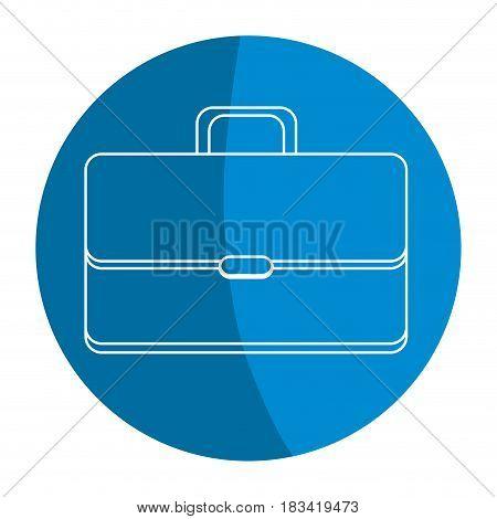 emblem suitcase to save business documents, vector illustration design