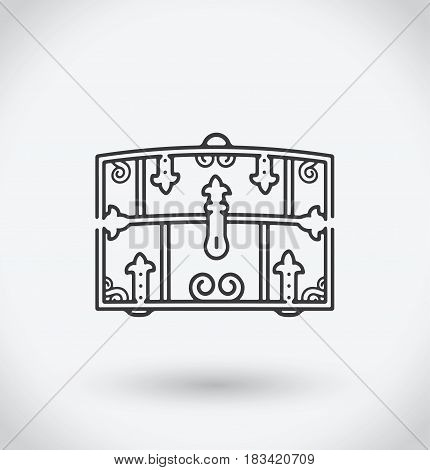 Chest Icon on white background. With shadow.