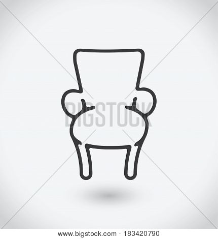 Chair Icon on white background. With shadow.