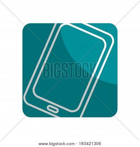 logotype technology smartphone business data, vector illustration
