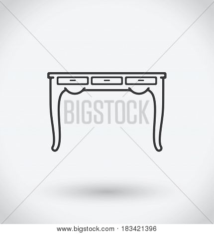 Table Icon on white background. With shadow.