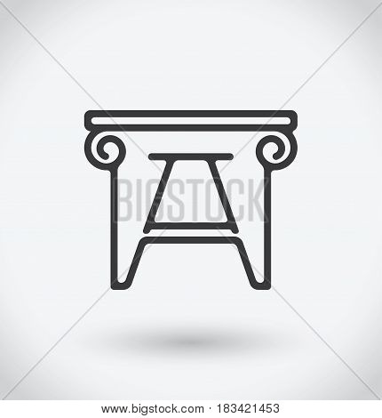 Tabouret Icon on white background. With shadow.