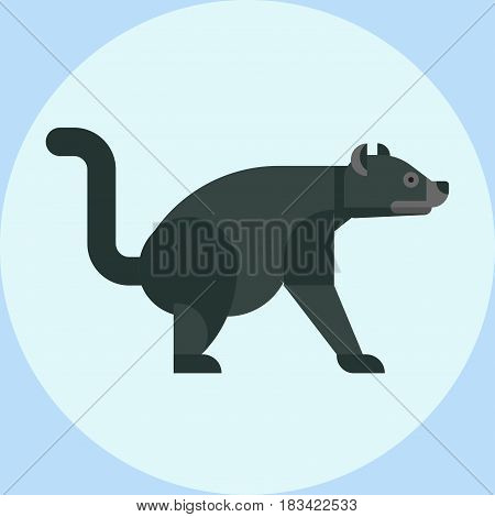 Tasmanian devil baring its teeth australia nature marsupial wildlife character vector illustration. Fierce teeth carnivore mean wild species animal aggressive carnivorous.