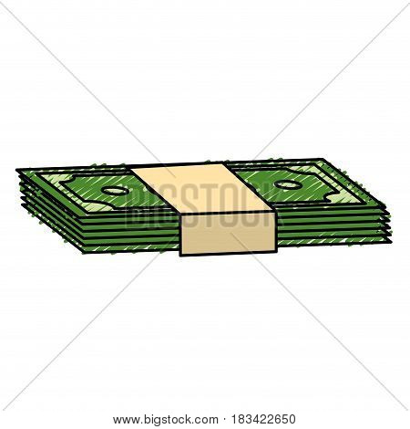 green bills dolar money, vector illustration design