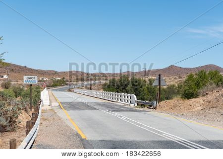 A bridge on the scenic route R62 between Ladismith and Barrydale in the Western Cape Province of South Africa