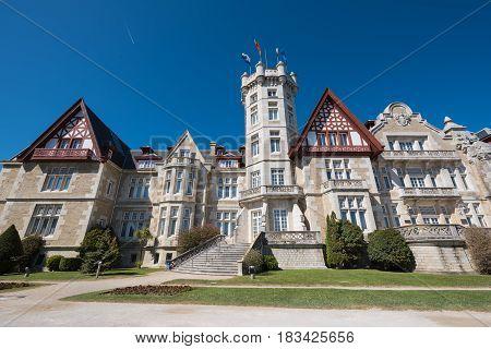 Magdalena palace in Santander Cantabria Spain .