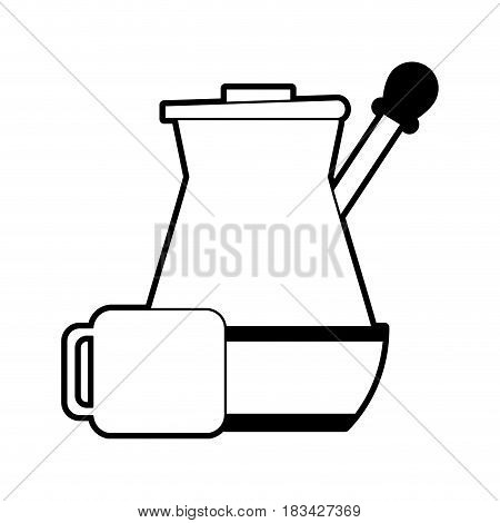 press coffee related icon image vector illustration design