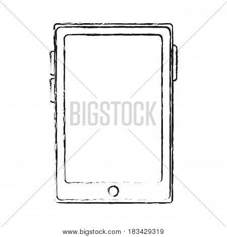 modern cellphone with blank screen icon image vector illustration design