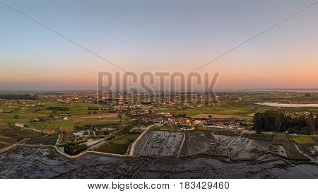 Aerial View Of Monte At Sunset