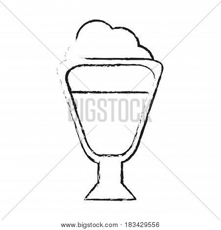 beverage with foam coffee related icon image vector illustration design