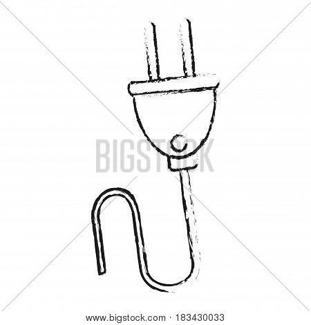 isolated plug with cord icon image vector illustration design