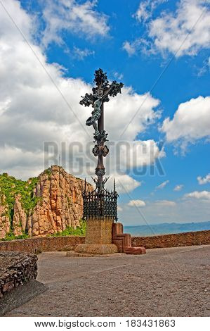 Benedictine monastery of Santa Maria de Montserrat near Barcelona, Spain