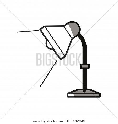 desk lamp light bulb elecrtic line shadow vector illustration