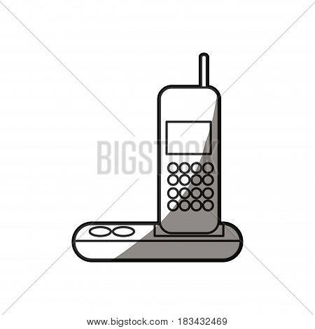 telephone call communication device design vector illustration