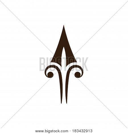 ornament decoration heraldic classic royal design vector illustration