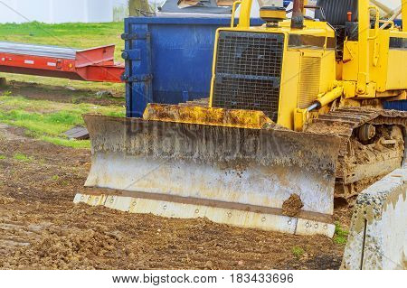 The Tractor Digger, Heavy Duty Construction Equipment Parked