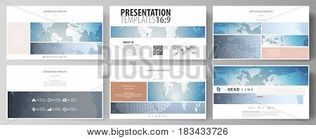 The minimalistic abstract vector illustration of the editable layout of high definition presentation slides design business templates. Scientific medical DNA research. Science or medical concept