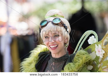 Participant In Fairy Clothes Smiling