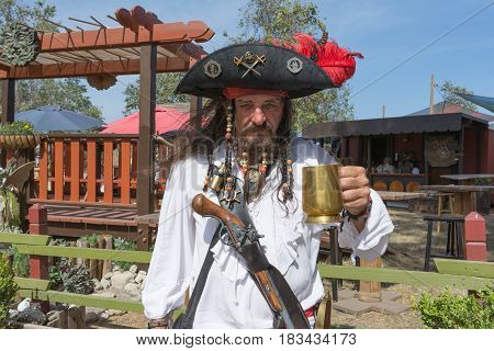 Participant Wearing Typical Pirate Clothing