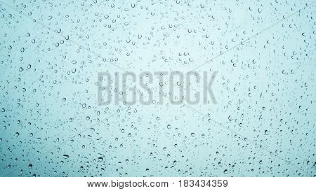 water drops on glass texture background - vintage tone
