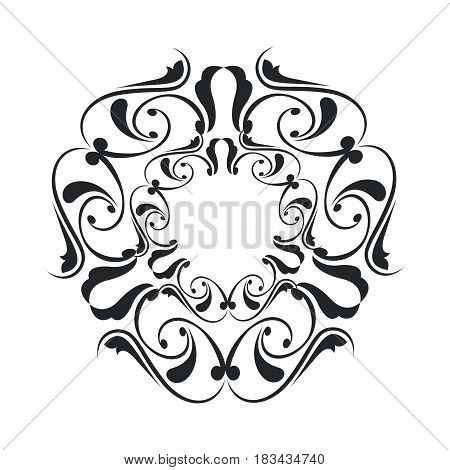 decorative frame vintage elegant flourish image vector illustration
