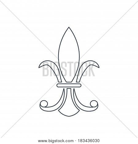 vintage element decoration victorian line vector illustration