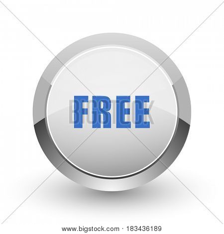 Free chrome border web and smartphone apps design round glossy icon.