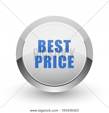 Best price chrome border web and smartphone apps design round glossy icon.