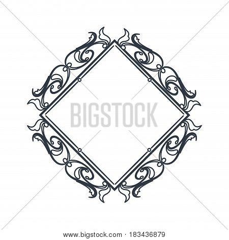 classic frame polygon crest heraldic decoration blank vector illustration