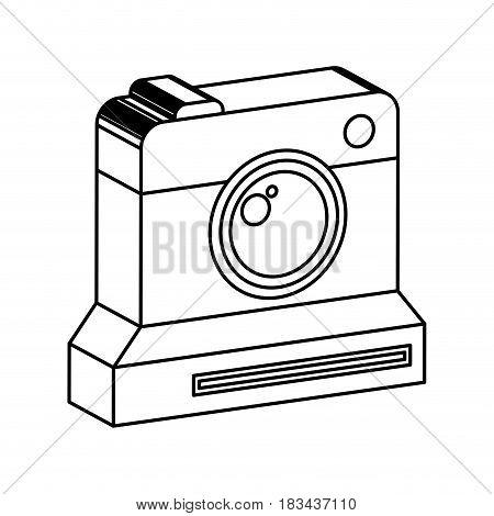 retro instant camera photographic isolated icon vector illustration design