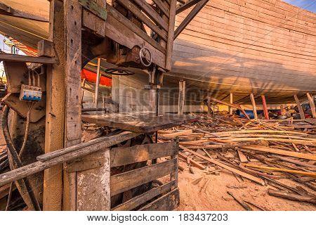 Noah's Ark at Essaouira port in Morocco.