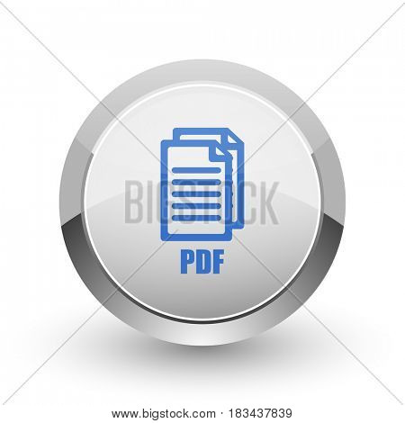 Pdf chrome border web and smartphone apps design round glossy icon.,