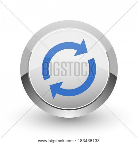 Reload chrome border web and smartphone apps design round glossy icon.