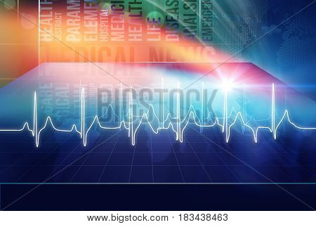 Medical Abstract Background Suitable for Healthcare and Medical News Topic