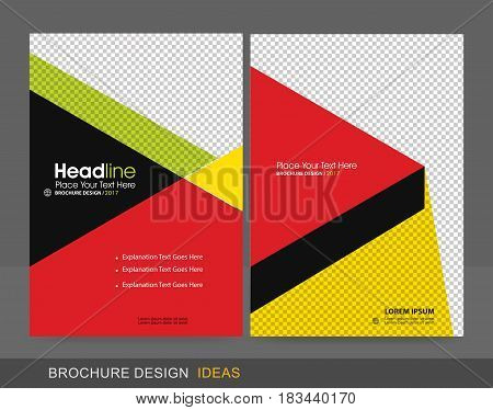 Professional Brochure Concept Template for Business Purpose Place Your Text and Logos and Ready To GO For Print.