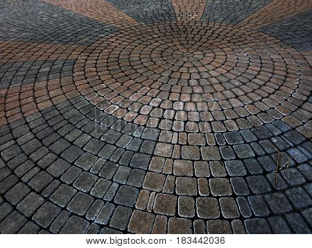 Cobble stones placer rocks pattern patio sidewalk